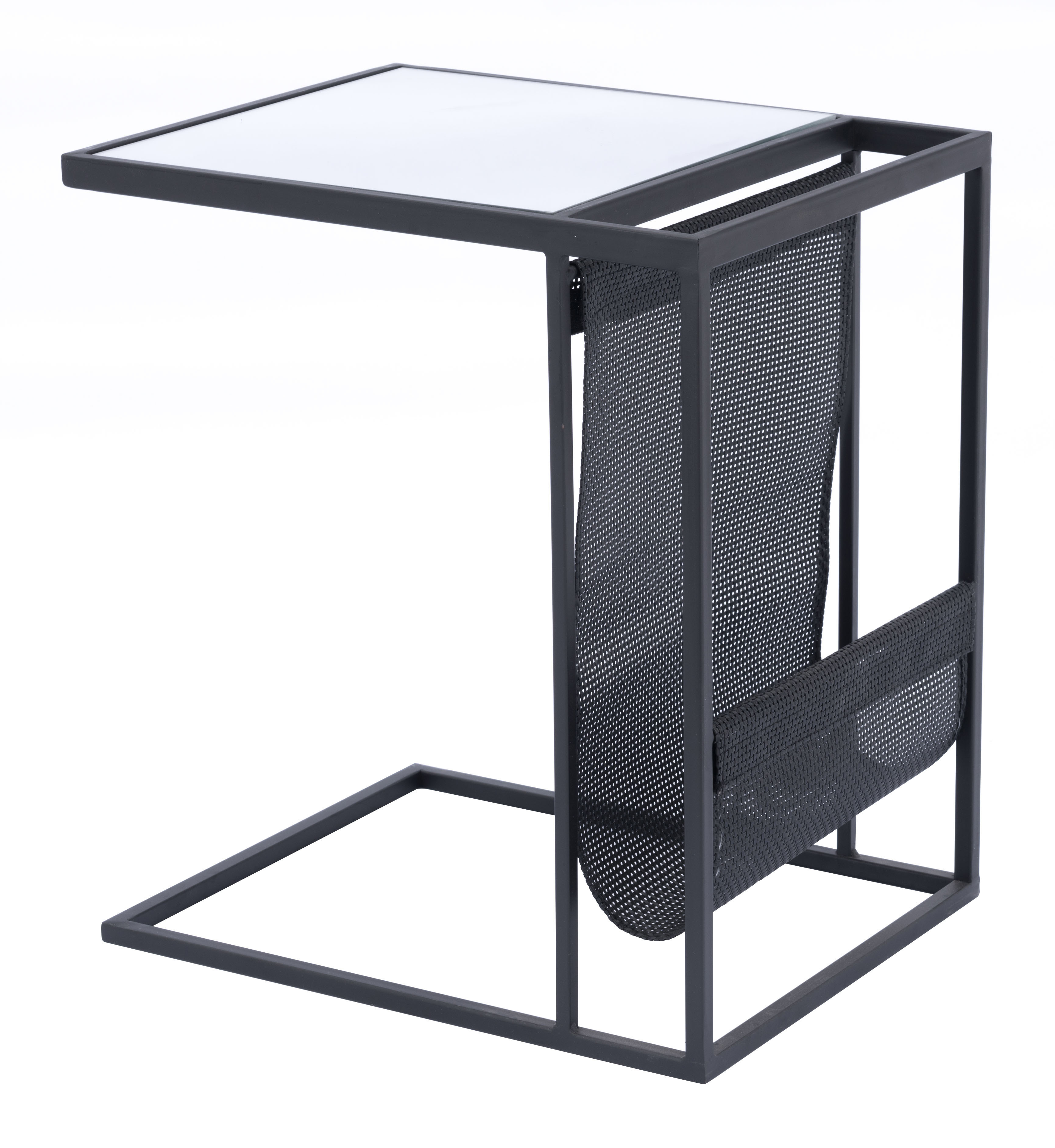 Zuo Modern Magazine Rack Table, Rectangular, Black
