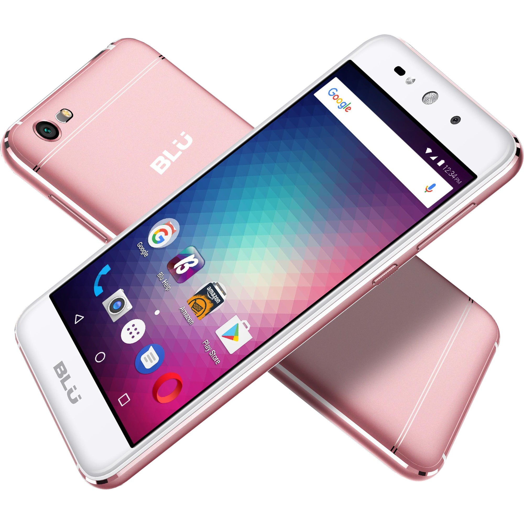 "BLU GRAND MAX G110Q 8 GB Smartphone - 5"" HD - 1 GB RAM - Android 6.0 Marshmallow - 3G - Rose Gold - Bar MT6580 Quad-core (4 Core) 1.30 GHz - 2 SIM Support - 64 GB microSD Support SIM-free - 8 Megapixel Rear Camera - 1 Day Talk Time - 700 Hour Standby Time"