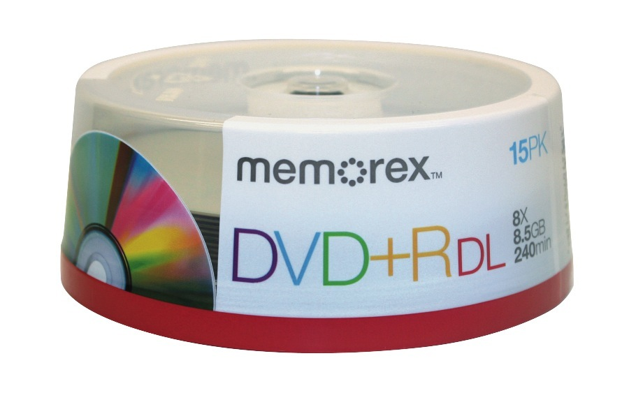Memorex® DVD+R Double Layer Recordable Media Spindle, 8.5GB/240 Minutes, Pack Of 15