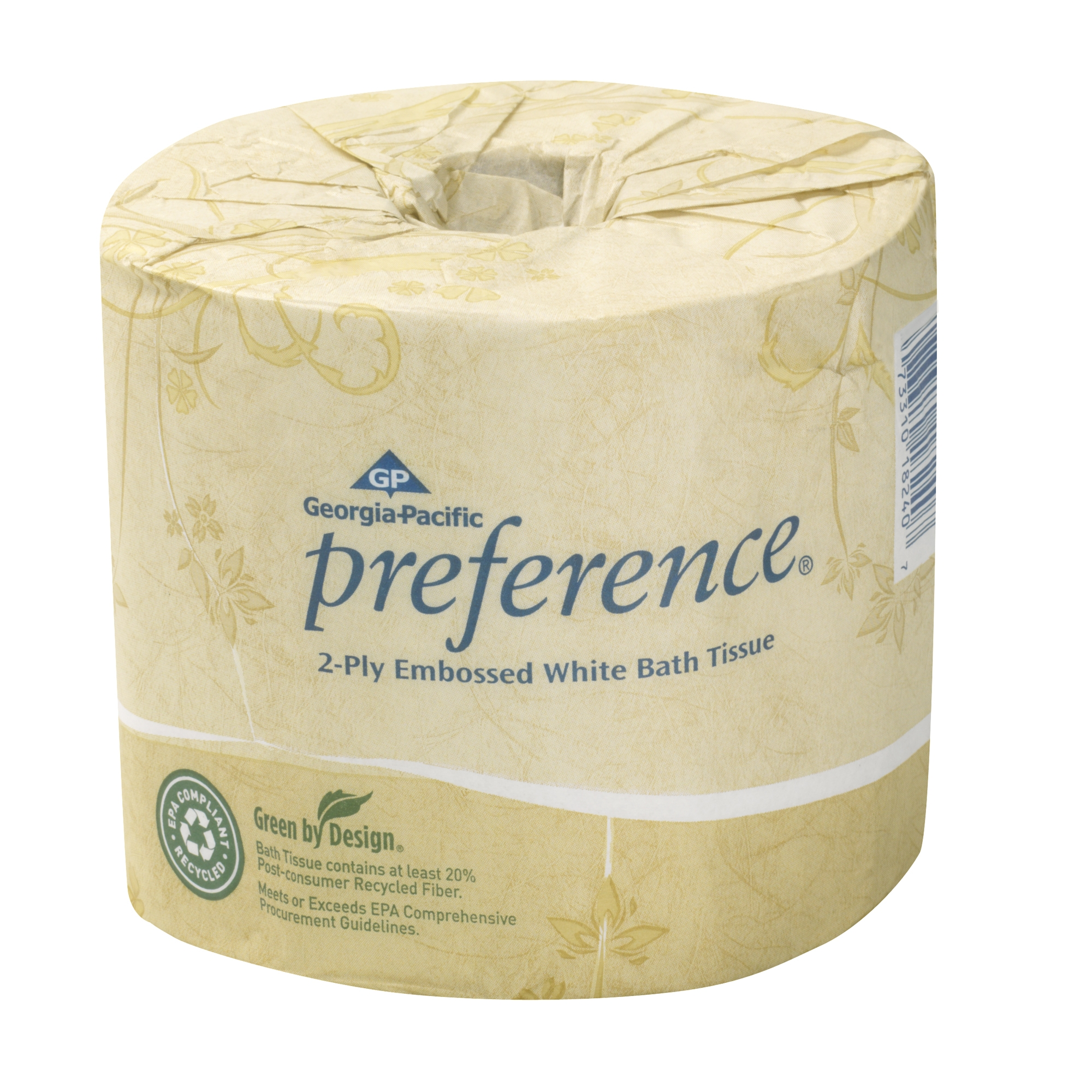 Georgia-Pacific Preference® Embossed Toilet Paper, 550 Sheets Per Roll, Case Of 40 Rolls
