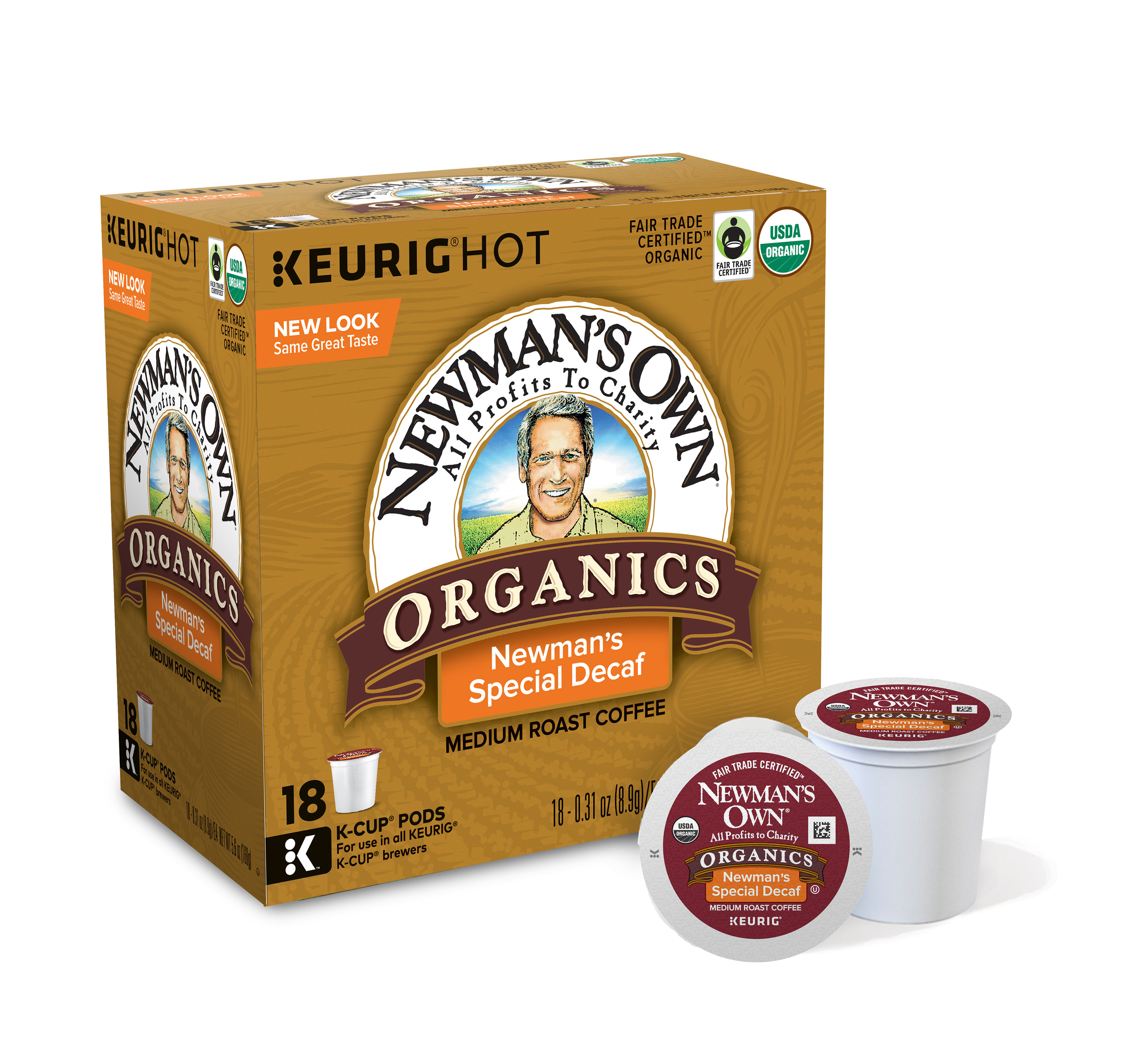 Newman's Own® Organics Special Blend Decaffeinated Coffee Single-Serve K-Cup®, 0.4 Oz, Carton Of 16
