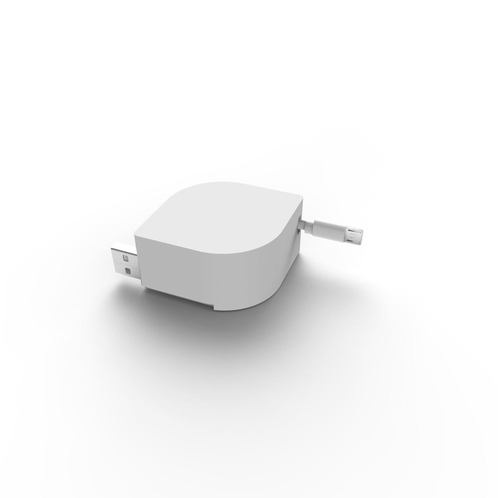North Retractable Micro-USB Pod For Charging Dock, White, 813125026158