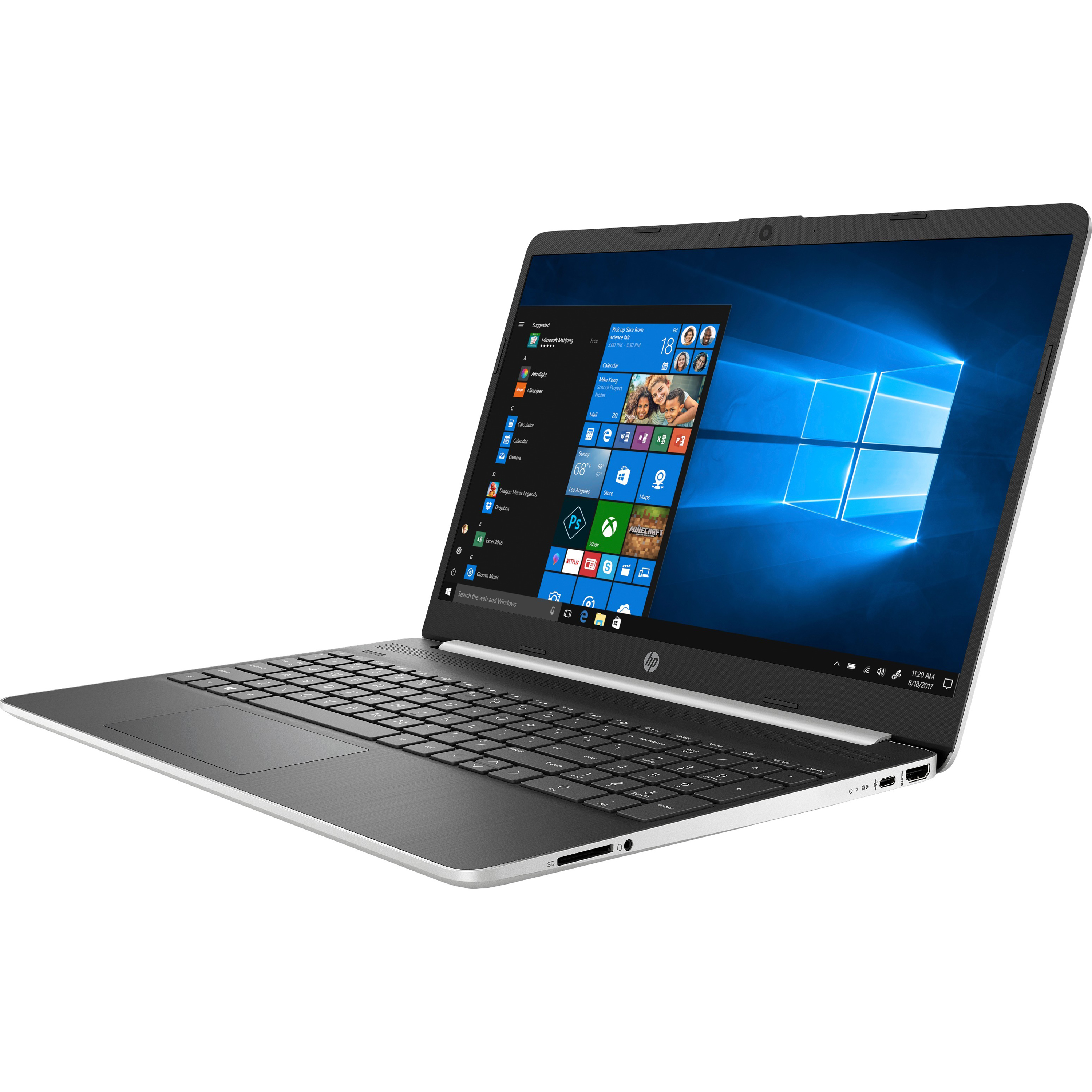 "HP 15-dy0013dx Refurbished Laptop, 15.6"" Touch Screen, 8th Gen Intel® Core™ i5, 12GB Memory, 256GB Solid State Drive/16GB Intel® Optane™ Memory, Windows® 10 Home"