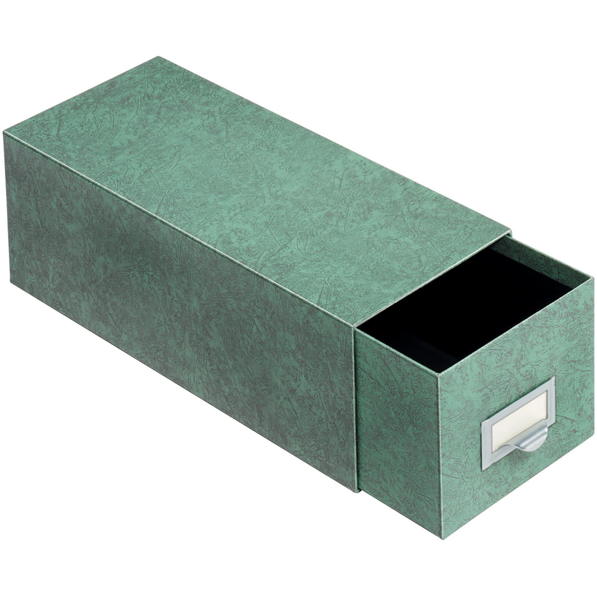 "Globe-Weis® 70% Recycled Index Card Storage Case, 4"" x 6"", Green"