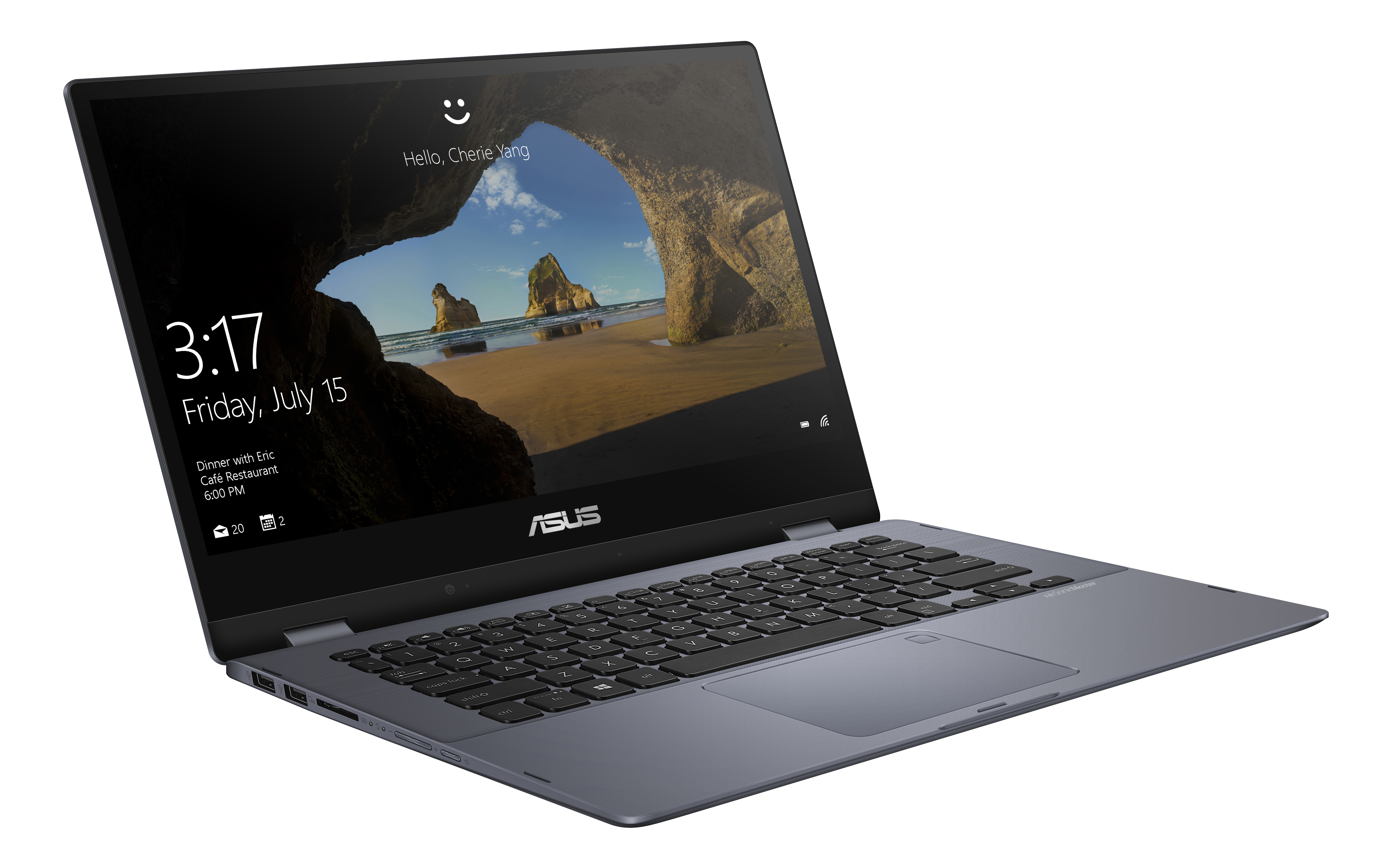 "ASUS® VivoBook Flip TP412FA-OS31T Laptop, 14"" Full HD Touch Screen, Intel® Core™ i3-8145U, 4GB Memory, 128GB Solid State Drive, Windows® 10 Home in S mode"