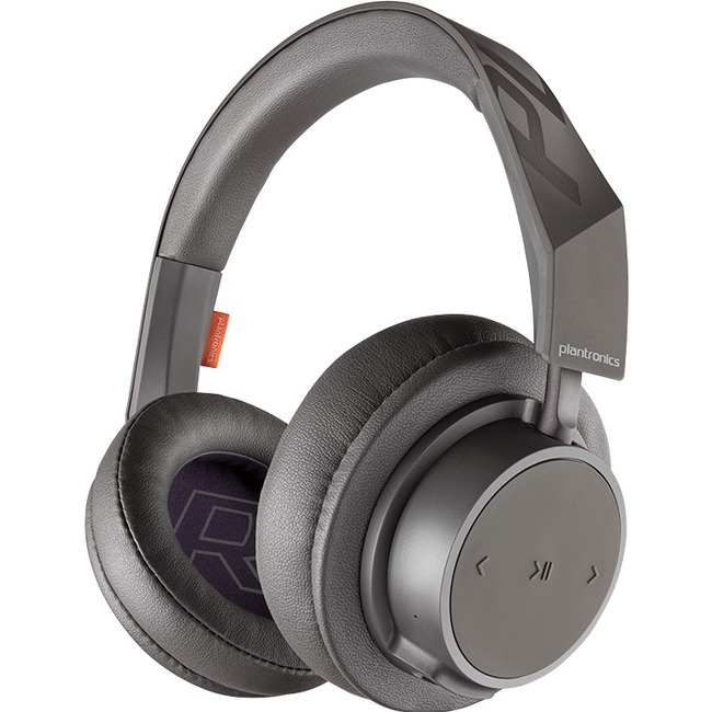 Plantronics BackBeat GO 600 Series Over-the-ear Wireless Headphones - Stereo - Wireless - Bluetooth - 32.8 ft - 32 Ohm - 50 Hz - 20 kHz - On-ear, Over-the-head, Over-the-ear - Binaural - Circumaural - Noise Canceling - Gray