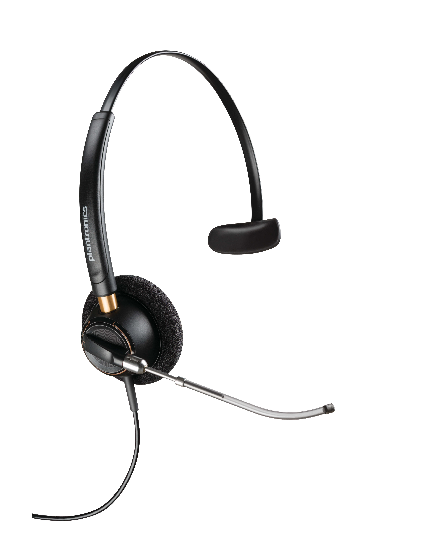 Plantronics® EncorePro Monaural Over-The-Head Headset, HW510V, Black, 89435-01
