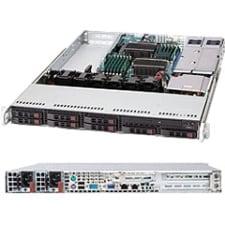 "Supermicro SuperChassis 113TQ-R500UB Syatem Cabinet - Rack-mountable - Black - 1U - 9 x Bay - 3 x Fan(s) Installed - 2 x 500 W - EATX Motherboard Supported - 1 x External 5.25"" Bay - 8 x External 2.5"" Bay - 3x Slot(s)"