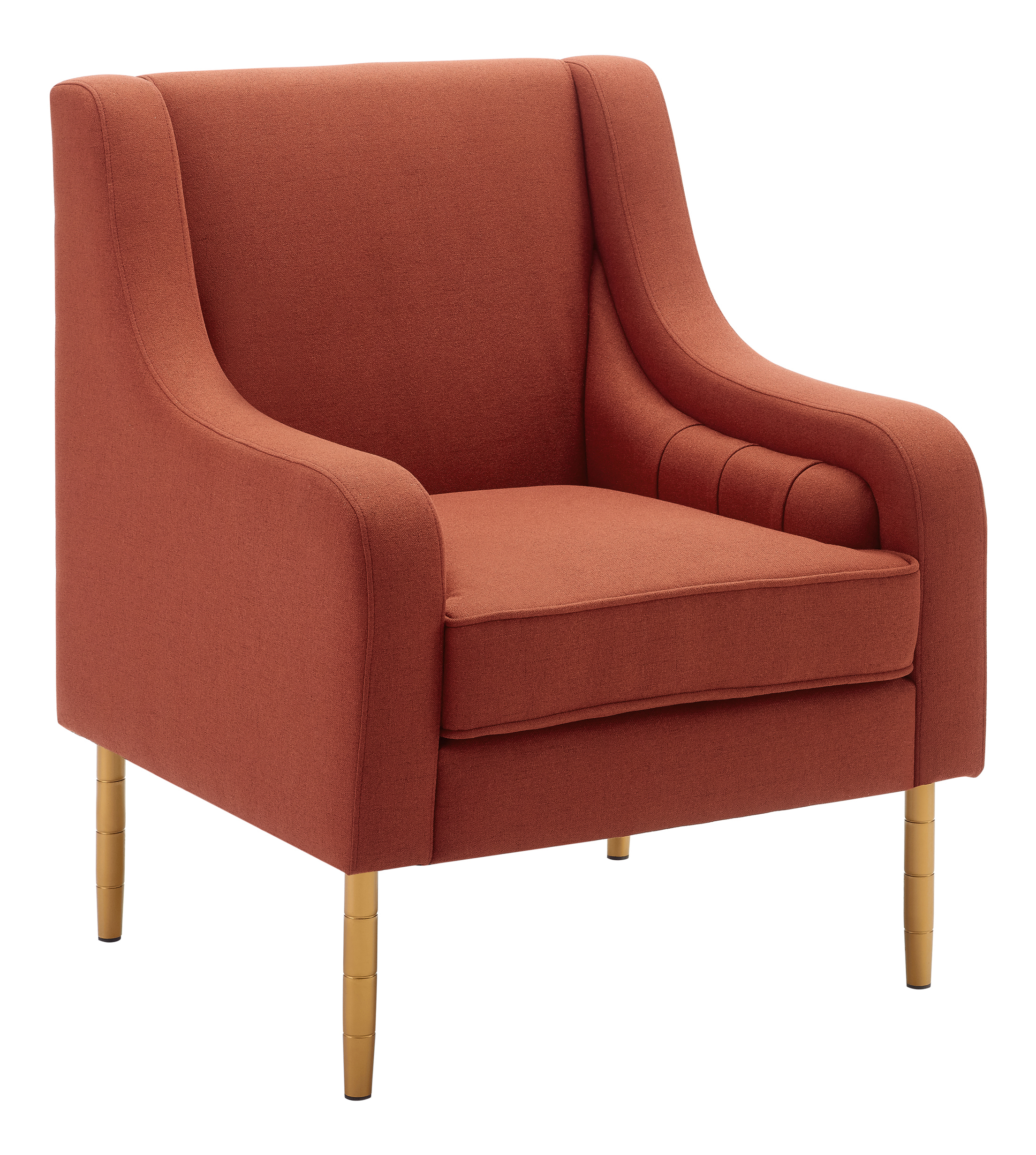 Linon Oxford Accent Chair, Paprika/Gold
