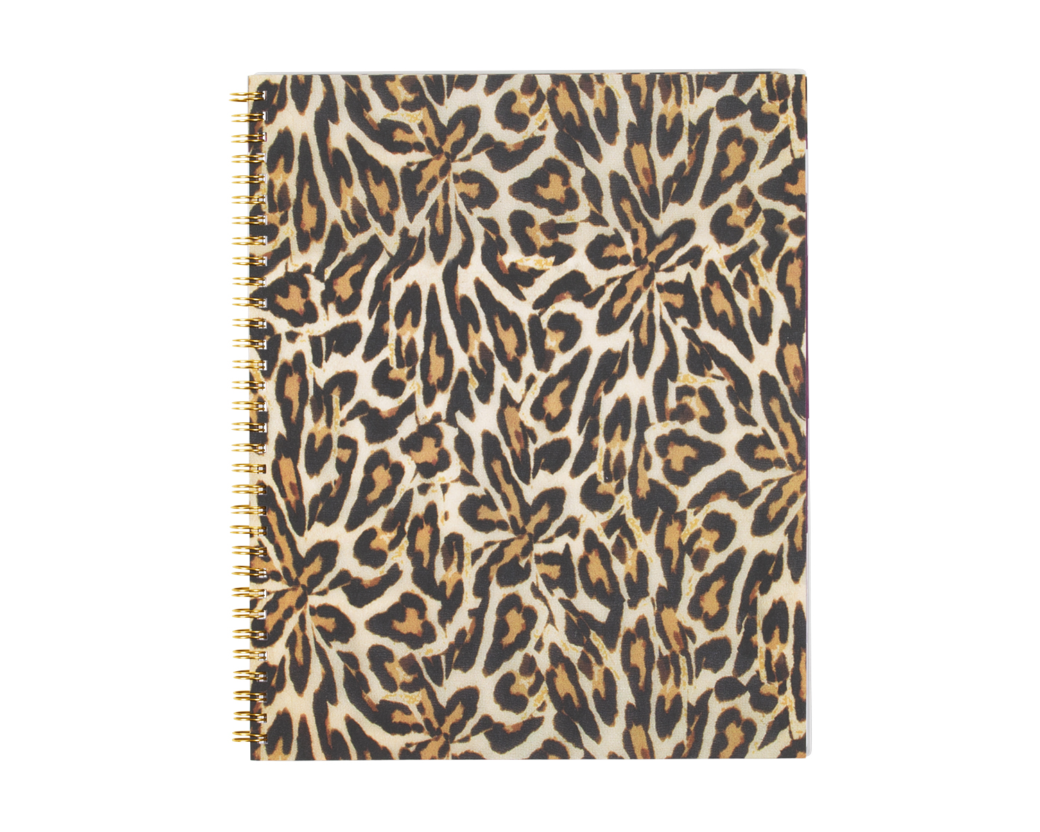 "Nicole Miller Weekly/Monthly Wire-O Planner, 8 1/2"" x 11"", 50% Recycled, Leopard, January-December 2016"