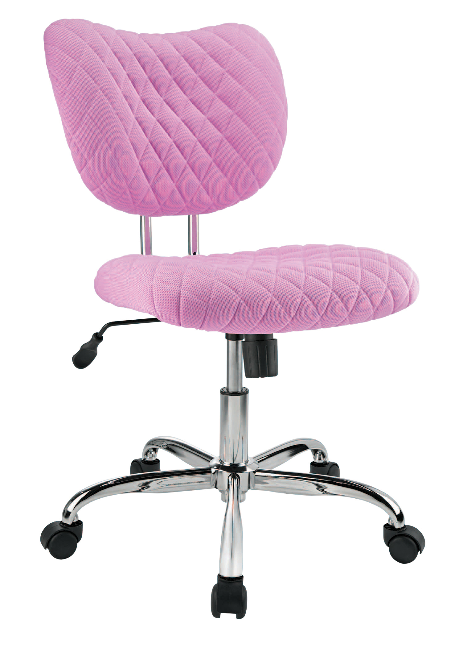 Brenton Studio® Quilted Jancy Mesh Low-Back Task Chair, Pink/Chrome