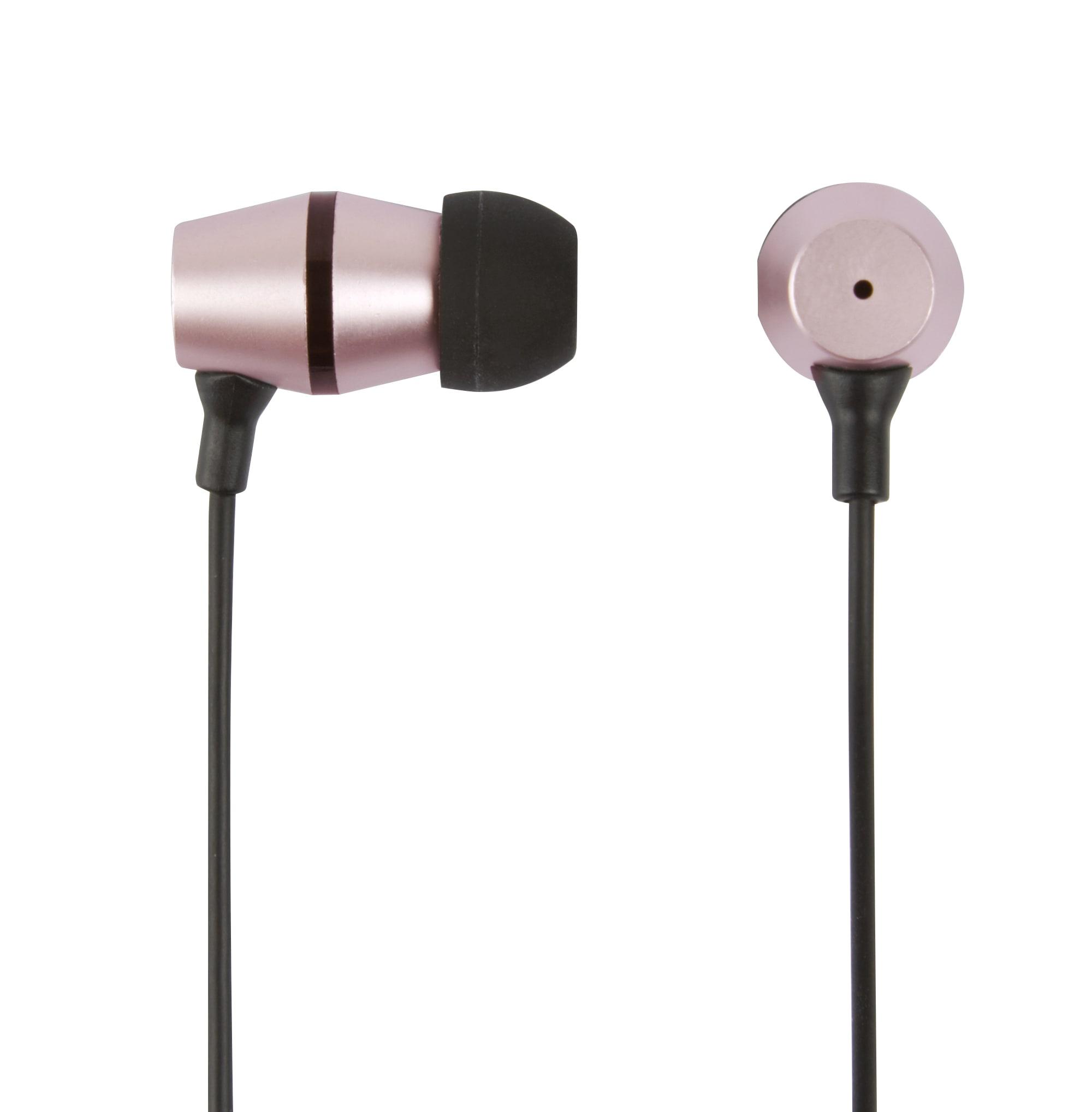 Ativa™ Metal Earbud Headphones, Rose Gold, WD-OD05-RG