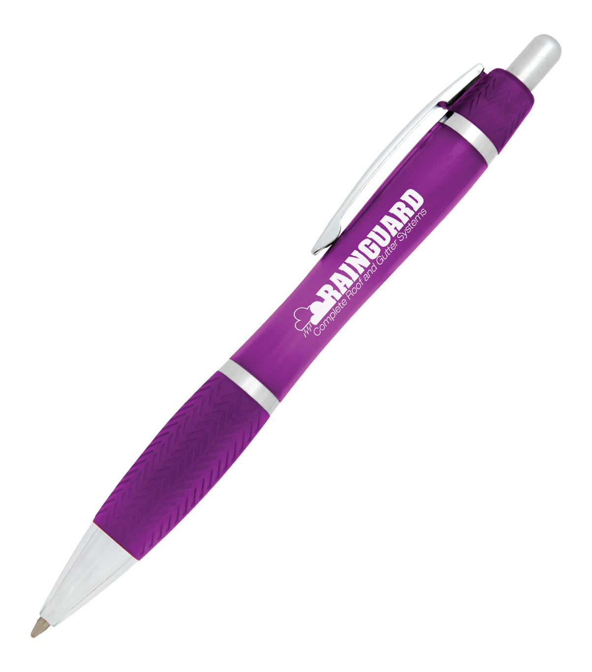Translucent Chrome-Barrel Ballpoint Pen, Medium Point, Assorted Barrel Colors, Black Ink