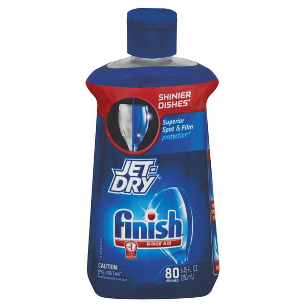Jet Dry Dishwasher Liquid Rinse Additive With Shine Boost, Original Scent, 8.45 Oz Bottle, Case Of 8