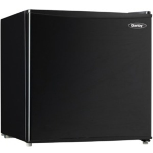 Danby Compact Refrigerator - 1.60 ft - Manual Defrost - Reversible - 1.60 ft Net Refrigerator Capacity - 207 kWh per Year - Black - Smooth - Built-i