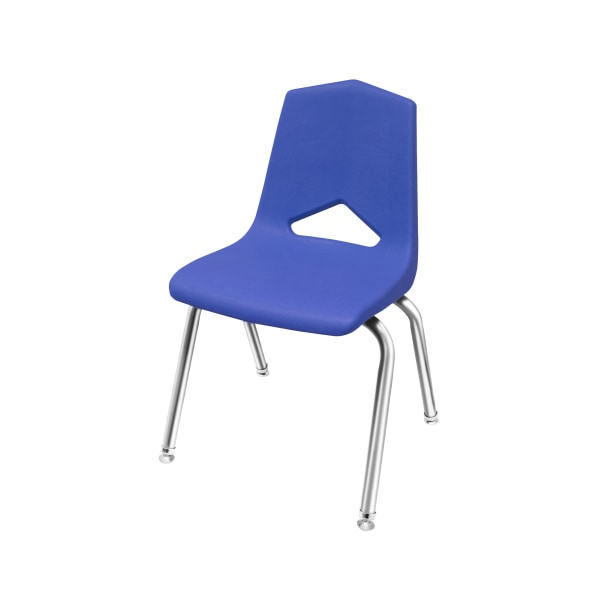 Marco Group MG1100 Series Stacking Chairs, 18-Inch, Blue/Chrome, Pack Of 4