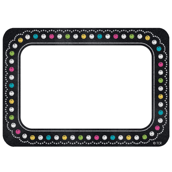 Teacher Created Resources Chalkboard Brights Name Tags, 3 1/2  x 2 1/2 , Multicolor, Pack Of 180