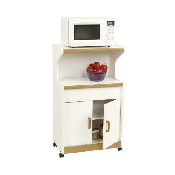 Ameriwood Home Microwave Workcenter, White