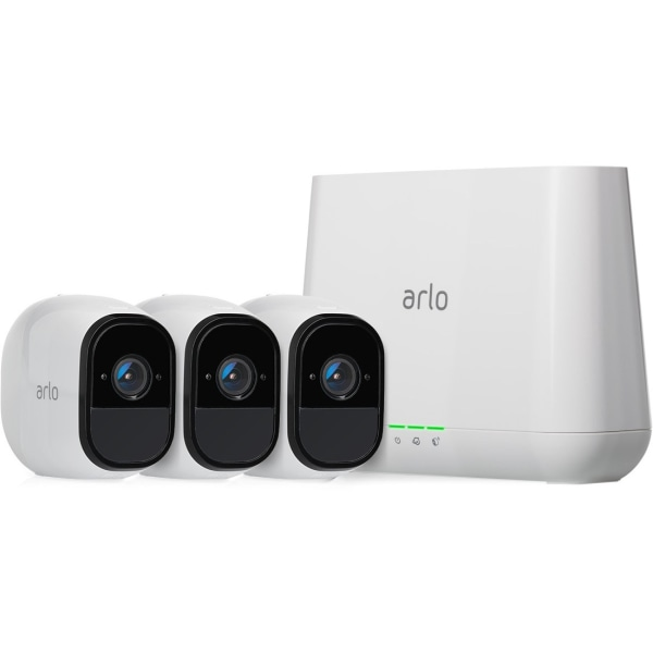 NetGear Arlo Pro Wireless HD Indoor/Outdoor Security System With 3 Cameras, VMS4330