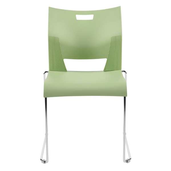 Global Duet Stacking Chairs, Armless, 32 1/4 H x 20 1/2 W x 22 1/2 D, Sea Glass, Pack Of 4