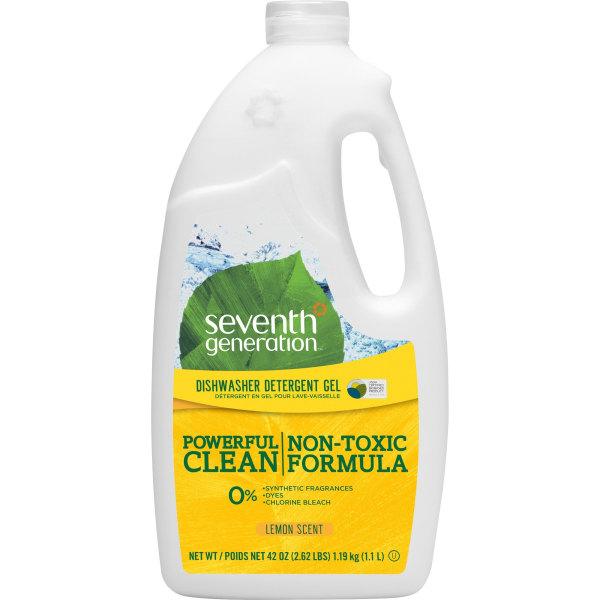Seventh Generation Automatic Dishwasher Gel Soap, Lemon Scent, 45 Oz Bottle, Case Of 6