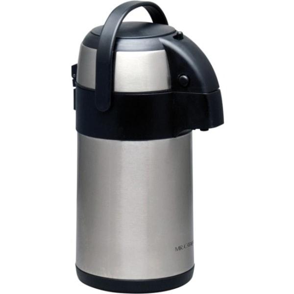 Mr. Coffee Everflow 2.32 Qt Pump Pot - 2.3 quart 13.25  Length 7.75  Width Pump Pot - Stainless Steel - Dishwasher Safe - Stainless Steel - Polished