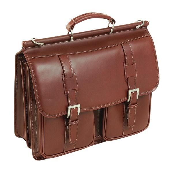 Siamod Signorini Leather Laptop Case For 15  Laptops, Cognac