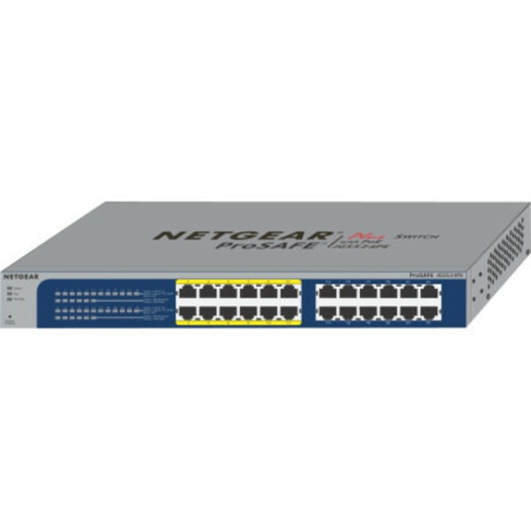 Netgear ProSafe Plus JGS524PE Ethernet Switch - 24 Ports - 2 Layer Supported - Desktop - Lifetime Limited Warranty
