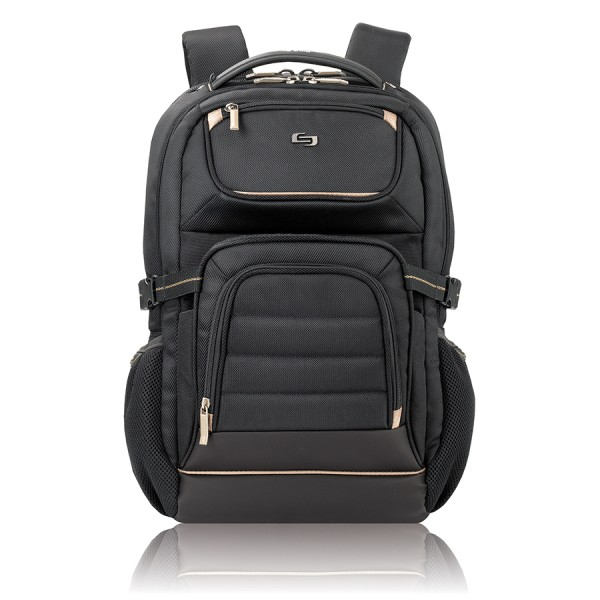 Solo Pro Laptop Backpack, Black/Tan