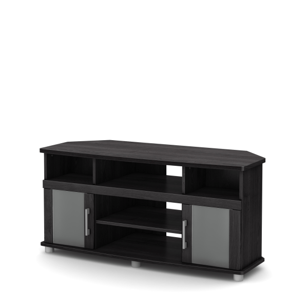 South Shore City Life Corner TV Stands For Televisions Up To 50 , Gray Oak