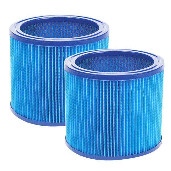 Shop-Vac Ultra-Web Small Cartridge Filter - 2 / Carton - Blue, Black