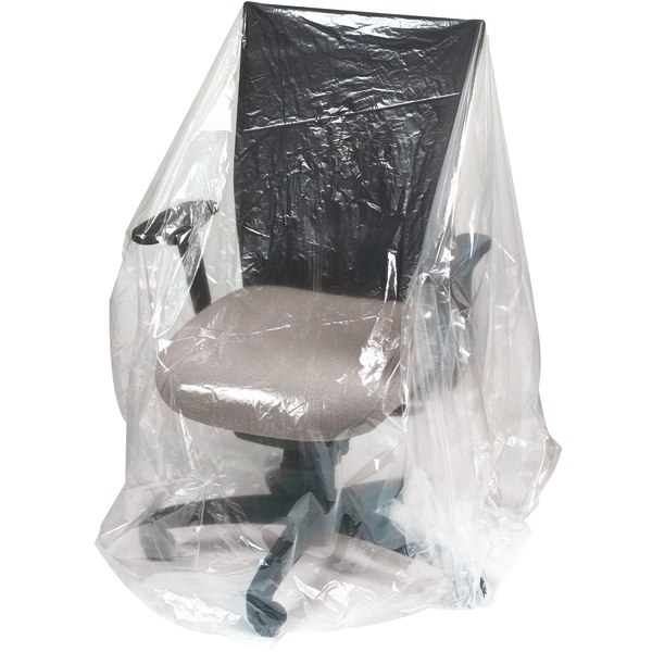 Office Depot Brand Plastic Furniture Covers, 1-Mil, 28  x 17  x 64 , 250 Per Roll