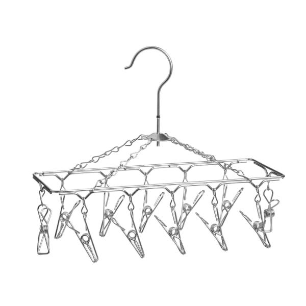 Honey-Can-Do Hanging 12-Hook Lingerie Drying Rack, 6 H x 11 3/4 W x 4 3/4 D, Chrome