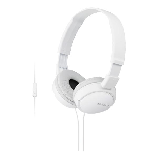 Sony ZX On-Ear Monitor Headphones, White, MDRZX110AP/W
