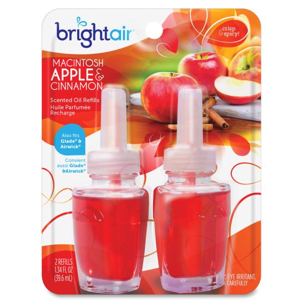 Bright Air Scented Oil Warmer Air Freshener Refill - Oil - Macintosh Apple, Cinnamon - 45 Day - 12 / Carton - Long Lasting -  BRI900255CT