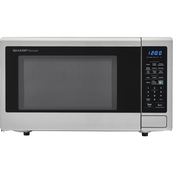 Sharp Carousel 1.8 Cu Ft Countertop Microwave Oven, Stainless