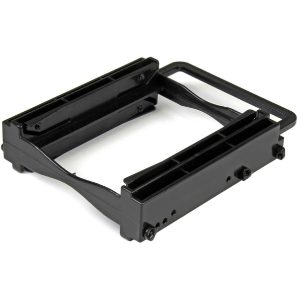StarTech.com Dual 2.5  SSD/HDD Mounting Bracket for 3.5  Drive Bay - Tool-Less Installation - 2-Drive Adapter Bracket for Desktop Computer - Plastic -