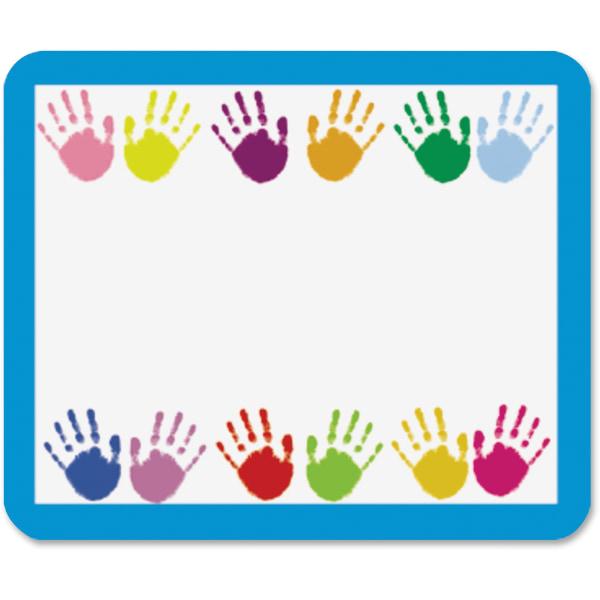 Carson Dellosa Education Grades PreK-5 Handprints Name Tags - 3  Width x 2 1/2  Length - Rectangle - Multicolor - 40 Total Label(s) - 40 / Pack