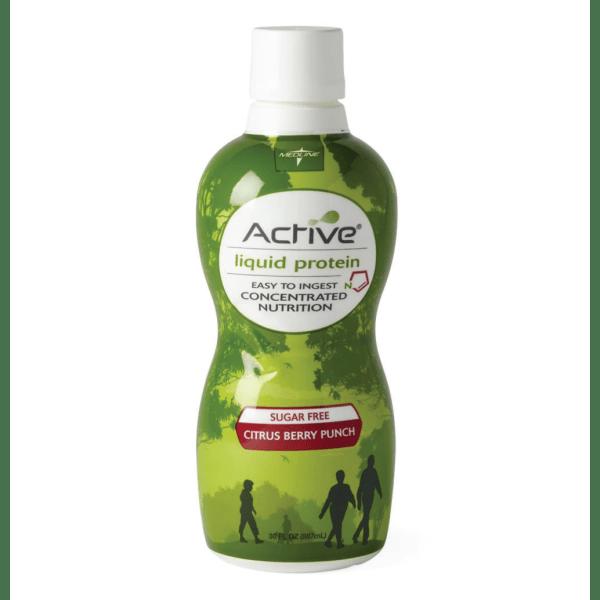 Active Liquid Protein Nutritional Supplements, Citrus Berry, 30 Oz, Case Of 4