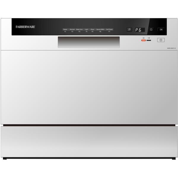 Farberware Professional FCD06 Counter-Top Dishwasher, 17-1/4 H x 21-13/16 W x 21-3/4 D, White
