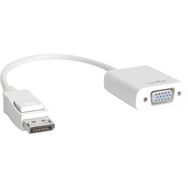 Rocstor DisplayPort to VGA Video Adapter Converter - Cable Length: 5.9  - 5.90  DisplayPort/VGA Video Cable for Desktop Computer, Notebook, Projector,