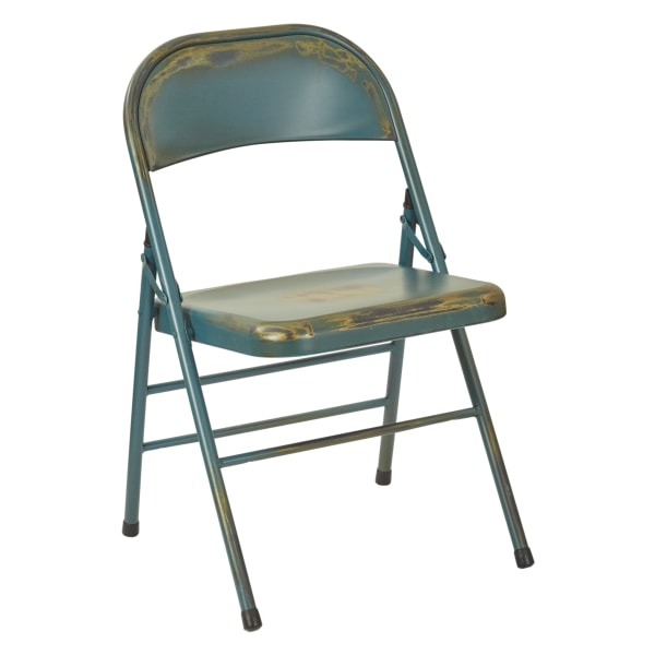 Office Star Bristow Armless Chairs, Antique Turquoise, Set Of 2 Chairs