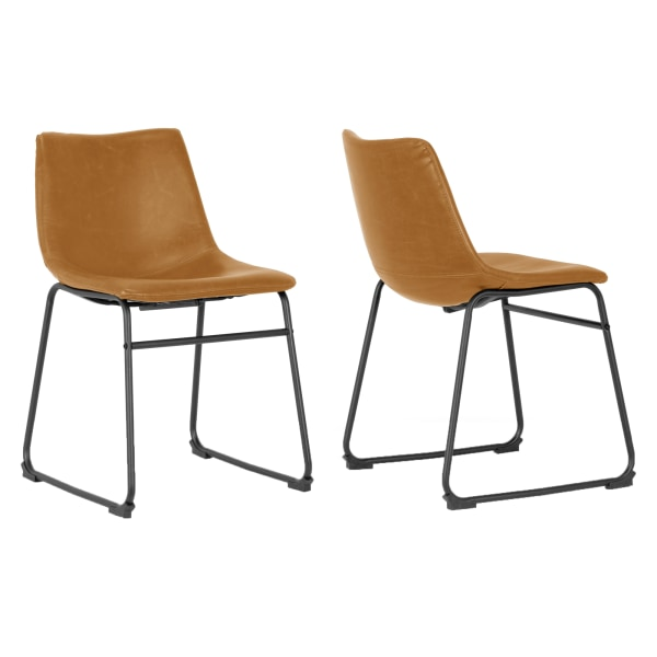 Glamour Home Adan Dining Chairs, Brown, Set Of 2 Chairs