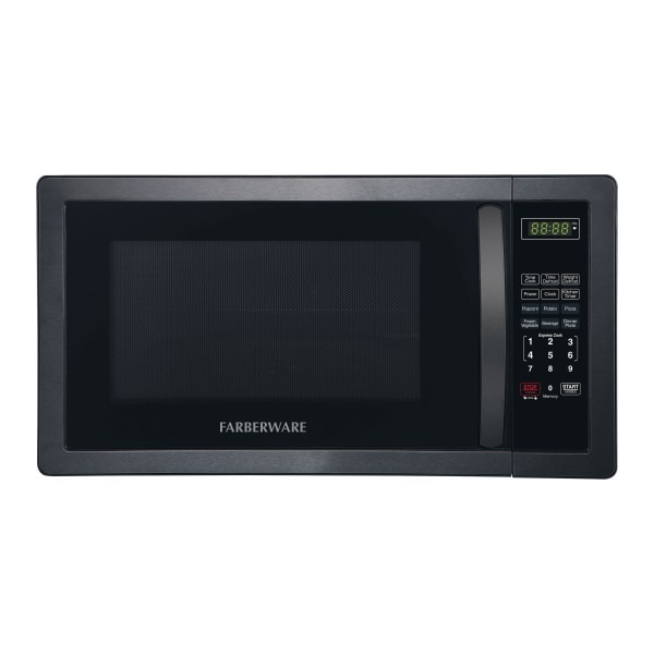 Farberware Classic 1.1 Cu Ft Countertop Microwave, Black/Stainless Steel
