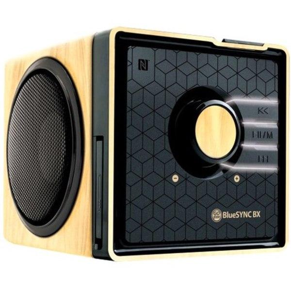 GOgroove BlueSYNC BX Bluetooth Wireless Speaker, Wood/Gloss Black