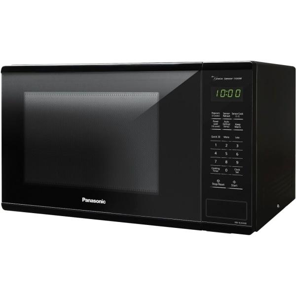 Panasonic 1.3 Cu. Ft. 1100W Countertop Microwave Oven - Black -NN-SU656B - Single - 9.72 gal Capacity - Microwave - 3 Power Levels - 1100 W Microwave