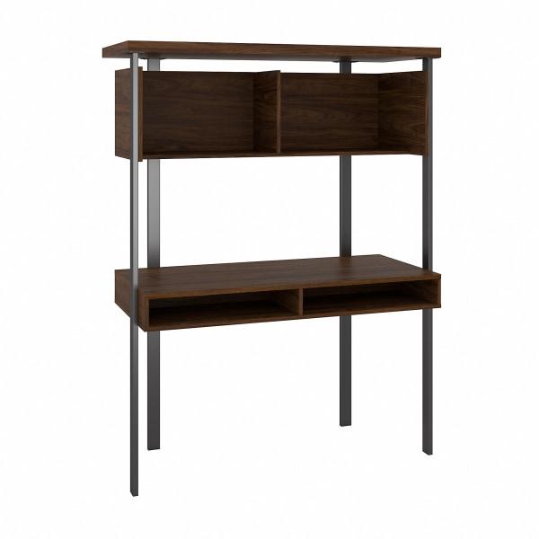 Bush Furniture Architect Small Computer Desk With Hutch, Modern Walnut, Standard Delivery