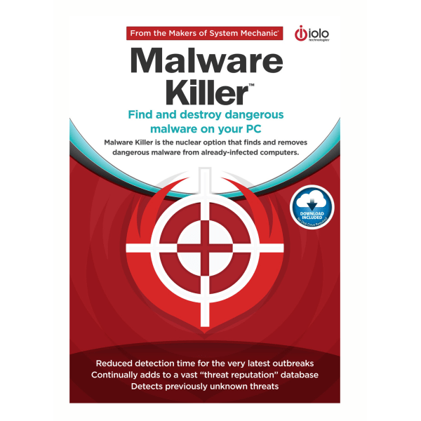 Malware Killer is the nuclear option that finds and removes dangerous malware from already-infected computers.