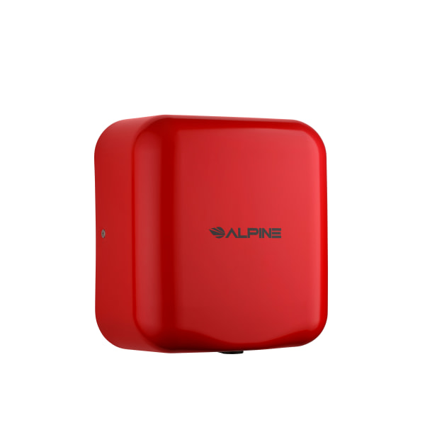 Alpine Hemlock Commercial Automatic High-Speed Electric Hand Dryer, Red