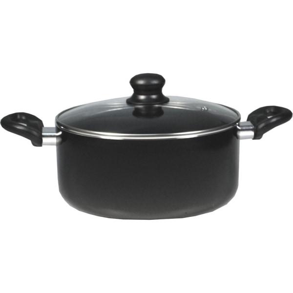 Starfrit Simplicity Saucepan (5.3-Quart) with Lid - 5.3 quart 9.50  Diameter Casserole, Lid - Aluminum, Bakelite Handle - Cooking - Dishwasher Safe -